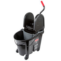 Rubbermaid Black 1863898 35 Qt. Executive Series WaveBrake® Down Press Mop Bucket