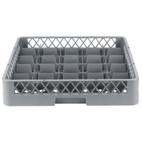 Noble Products 25-Compartment Gray Full-Size Glass Rack - 19 3/8 inch x 19 3/8 inch x 4 inch