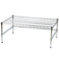 Regency 36 inch x 24 inch x 14 inch Chrome Plated Wire Dunnage Rack with Extra Support Frame - 600 lb. Capacity