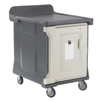 Cambro MDC1520S10191 10-Tray Granite Gray Low Profile Meal Delivery Cart with Standard Casters