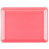 Genpak 1009L (9L) Foam Meat Tray Rose 12 1/8 inch x 9 1/4 inch x 3/4 inch - 250/Case