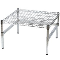 Regency 24 inch x 24 inch x 14 inch Chrome Plated Wire Dunnage Rack with Exra Support Frame - 600 lb. Capacity