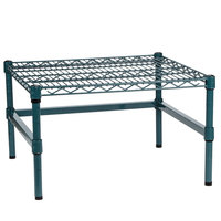 Regency 24 inch x 24 inch x 14 inch Green Epoxy Coated Wire Dunnage Rack with Extra Support Frame - 600 lb. Capacity