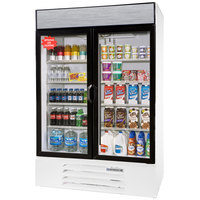 Beverage-Air LV49HC-1-W LumaVue 52 inch White Refrigerated Glass Door Merchandiser with LED Lighting