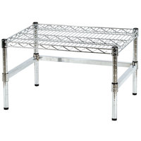 Regency 24 inch x 18 inch x 14 inch Chrome Plated Wire Dunnage Rack with Extra Support Frame - 600 lb. Capacity
