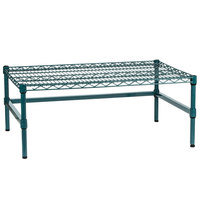 Regency 36 inch x 24 inch x 14 inch Green Epoxy Coated Wire Dunnage Rack with Extra Support Frame - 600 lb. Capacity
