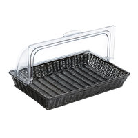 GET CO-3426-CL 16 3/4 inch x 11 1/2 inch Polycarbonate Cover for Polyweave Basket - 2/Case