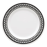 GET DP-909-X 9 inch Diamond Chexers Creative Table Round Plate - 24/Case