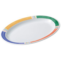 GET OP-610-BA Creative Table 10 inch x 6 3/4 inch Diamond Barcelona Oval Platter - 24/Case