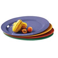 GET OP-621-MIX Diamond Mardi Gras 21 inch x 15 inch Assorted Colors Melamine Oval Platter Set - 12/Case