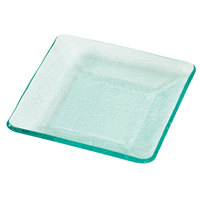 GET HI-2038-JA Cache 6 inch Jade Square Polycarbonate Plate - 24/Case