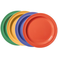 GET DP-909-MIX Creative Table 9 inch Round Plate, Assorted Colors - 24/Case