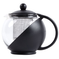 25 oz. Tempered Glass Tea Pot Infuser with Stainless Steel Basket