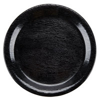 GET NP-6-BK Etchedware 6 1/2 inch Textured Black Narrow Rim Plate - 24/Case