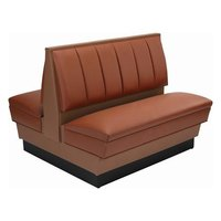 American Tables & Seating AD36-66U Double Alex Style Upholstered Booth - 36 inch High