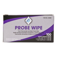 WipesPlus Probe Wipe Sachet, Thermometer Sanitizing Wipes - 10/Case