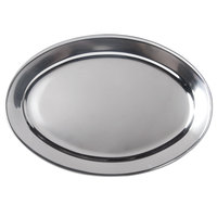 23 1/2 inch x 16 1/2 inch Oval Stainless Steel Platter