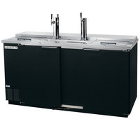 Beverage-Air DD68HC-1-C-B 1 Single and 1 Double Tap Club Top Kegerator Beer Dispenser - Black, (3) 1/2 Keg Capacity