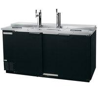 Beverage-Air DD68C-1-B 1 Single and 1 Double Tap Club Top Kegerator Beer Dispenser - Black, (3) 1/2 Keg Capacity