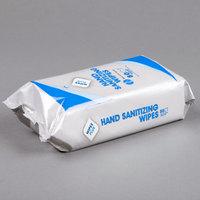 WipesPlus Lemon Scent Alcohol Free Hand Sanitizing Wipes - 24/Case
