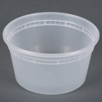 12 oz. Microwavable Translucent Plastic Deli Container - 480 / Case