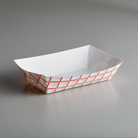#500 5 lb. Red Check Paper Food Tray - 250/Pack