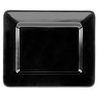 GET ML-11-BK Milano 12 inch x 10 inch Black Rectangular Plate - 12/Case