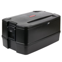 Rubbermaid FG940700BLA CaterMax 29 1/2 inch x 19 inch x 15 1/2 inch Black Top Loading Insulated 4-Pan Carrier