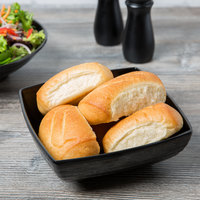 GET ML-66-BK Milano Black 1.75 Qt. Square Bowl