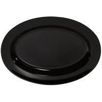 GET ML-15-BK Milano 18 inch x 13 inch Black Oval Platter - 6/Case
