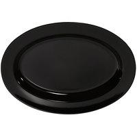 GET OP-621-BK Milano 21 inch x 15 inch Black Melamine Oval Platter - 12/Case