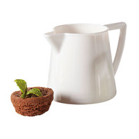 GET CM-302-PC-W 6 oz. White Plastic Creamer   - 12/Pack