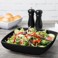 GET ML-69-BK Milano Black 4 Qt. Square Bowl - 6/Case