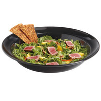 GET ML-13-BK Milano Black 3 Qt. Rimmed Bowl - 6/Case