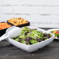 GET ML-68-W Milano White 3 Qt. Square Bowl