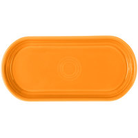Homer Laughlin 412325 Fiesta Tangerine 12 inch x 5 11/16 inch Bread Tray - 6/Case