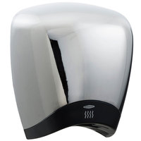 Bobrick B-778 115V QuietDry Surface-Mounted High Speed Hand Dryer with Chrome Cover - 1380W