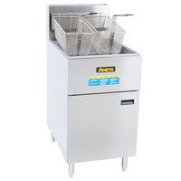 Anets SLG100 Natural Gas 70-100 lb. SilverLine Fryer - 150,000 BTU