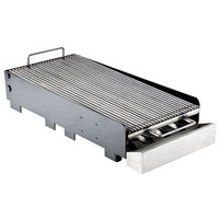 23 1/2 inch x 24 inch x 5 inch Add-On Charbroiler