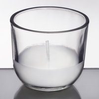 Sterno 40110 PetiteLites 5 Hour Clear Wax Filled Glass Candle - 48/Case