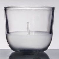 Sterno Products 40110 Petite Lites 5 Hour Clear Wax Filled Glass Candle - 24/Box