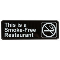 This Is A Smoke-Free Restaurant Sign - Black and White, 9 inch x 3 inch