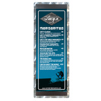 4 1/4 inch x 14 inch Menu Solutions ALSIN44-ST Single Panel Swirl Finish Aluminum Menu Board with Top and Bottom Strips