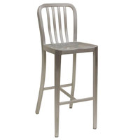 American Tables & Seating 57-BS Armless Slat Back Aluminum Bar Stool