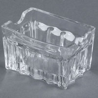 Tablecraft H121 3 1/4 inch Fluted Glass Sugar Caddy - 3/Pack