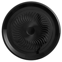 Visions Black PET Plastic 16 inch Thermoform Catering / Deli Tray - 5/Pack