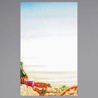 8 1/2 inch x 14 inch Menu Paper - Italian Themed Pasta Design Left Insert - 100/Pack