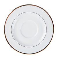 CAC GRY-2 Golden Royal 5 3/4 inch Bright White Porcelain Saucer - 36/Case