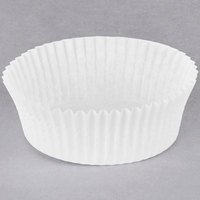 Hoffmaster 610061 3 inch x 1 1/4 inch White Fluted Baking Cup   - 500/Pack