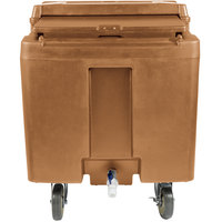 Cambro ICS125L157 SlidingLid Coffee Beige Portable Ice Bin - 125 lb. Capacity